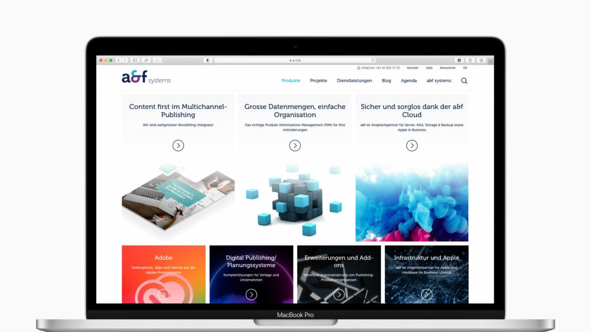 Aktuell, modern, innovativ – Die a&f systems passt ihren Webauftritt an