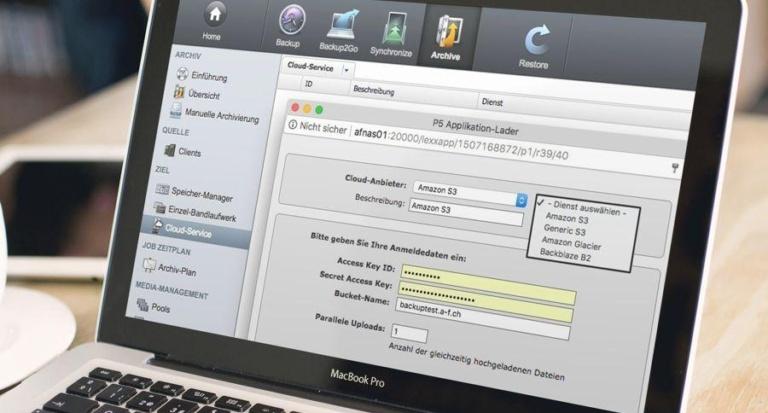 Cloud Datensicherung und Datenarchivierung mit Archiware P5 Version 5.5