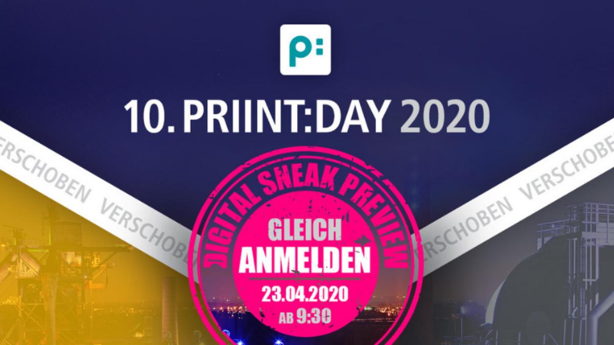 Digitale Sneak Preview zum priint:day am 23. April 2020