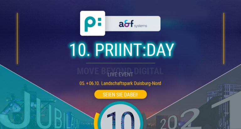 05./06.10.2021 – Priint:day 2021 – Wir sind als Goldpartner dabei