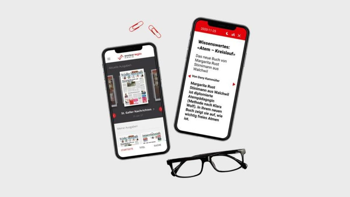 Swiss Regiomedia: 27 Zeitungen als E-Paper dank SPRYLAB und a&f