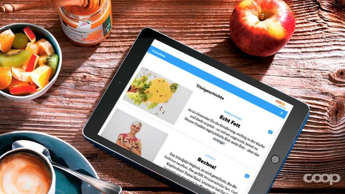 Spannende Inhalte von unterwegs – der neue Online-Auftritt der Coopzeitung
