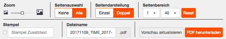 PDF Creator Werkzeugleiste